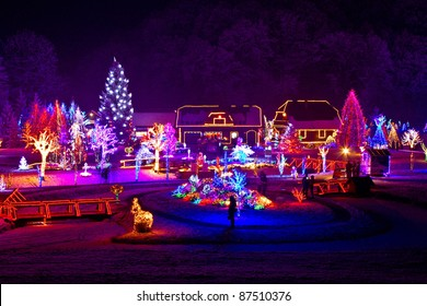Christmas Lights On Houses Pictures.Christmas Lights House Images Stock Photos Vectors