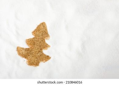 christmas figure from sugar