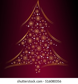 A christmas fir as a symbol for the christmas holidays