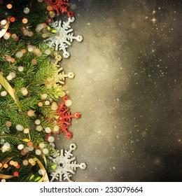 Christmas fir tree with copyspace