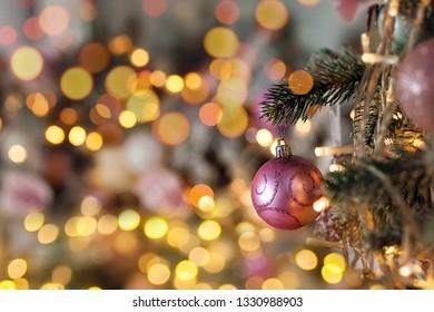 christmas fires on Christmas tree