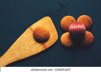 Christmas flower cookies