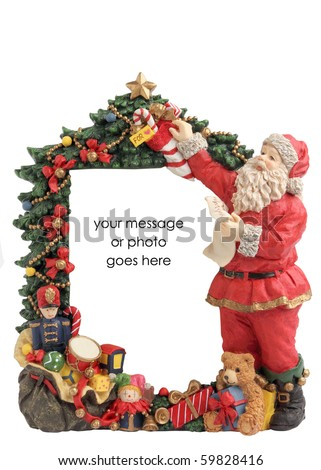 Christmas Frame Border Inserts Isolated On Stock Photo (Edit Now ...