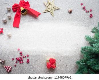 Christmas frame decoration background