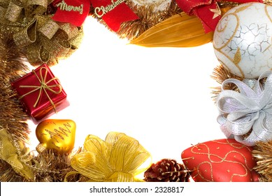 christmas frame with free space for your images or writing