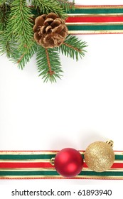 Christmas frame with free space for your images or writing .