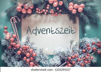 Christmas Garland, Fir Tree Branch, Adventszeit Means Advent Season