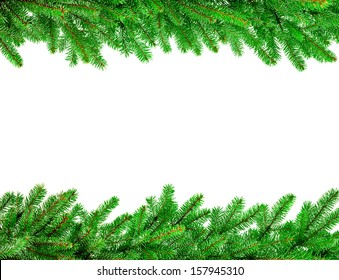 christmas garland isolated on white background