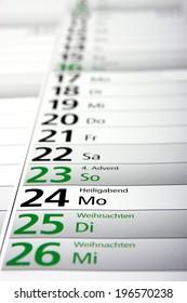 christmas in the german calendar