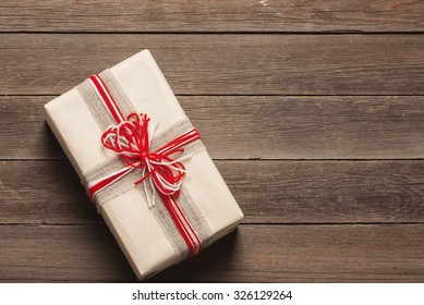 christmas gift box with decoration
