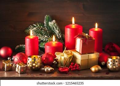 christmas gift box and decoration light