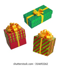 Shutterstockwacomkagift boxes christmas gift boxes over white background 3d illustration negle Image collections