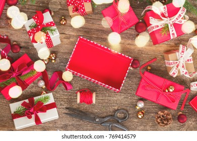 Christmas gift giving pile wrapped red stock photo royalty free christmas gift giving negle Gallery