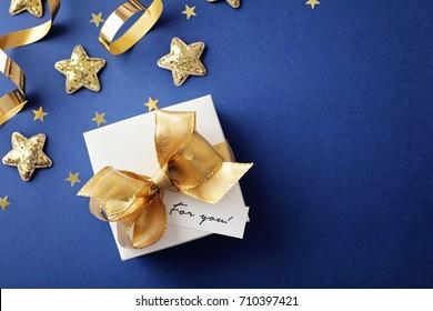 christmas gift and christmas ornaments