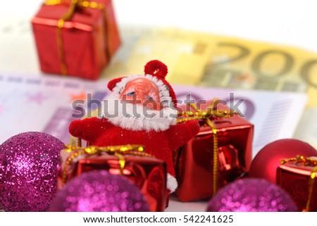 Christmas Gift Packages.Christmas Gift Packages Euro Euro Money Stock Photo Edit
