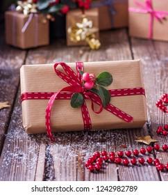 Christmas gift or present box
