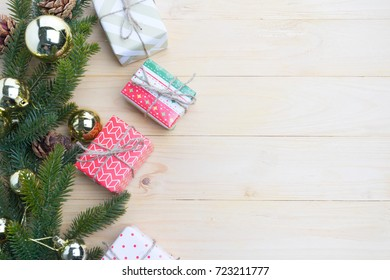 christmas gift presents in decorative boxes white background
