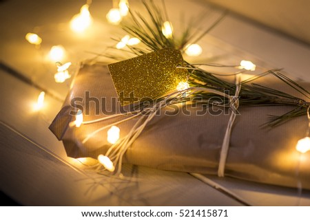 String of christmas lights gift