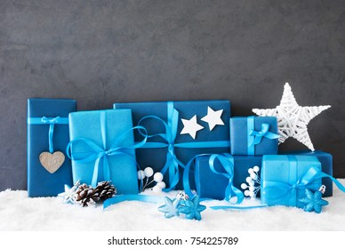 Christmas Gifts, Copy Space, Snow