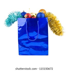 christmas gifts are isolated on a white background