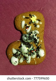 Christmas ginger cookie with decoration