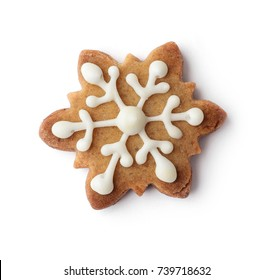 christmas gingerbread cookie isolated on white background