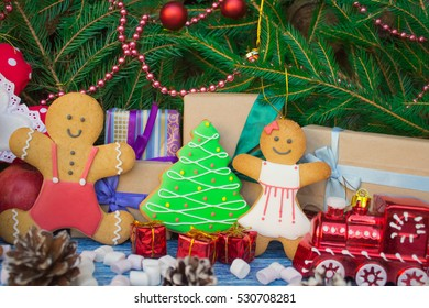 Christmas gingerbread cookies