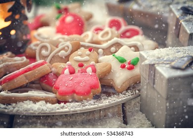 Christmas gingerbread cookies decoration