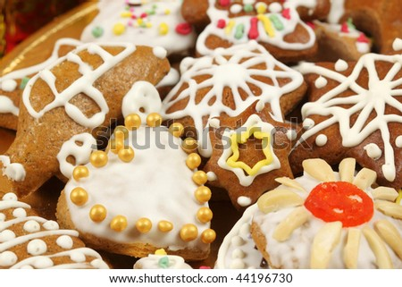 Christmas Gingerbread Cookies Polish Traditional Xmas Stock Photo