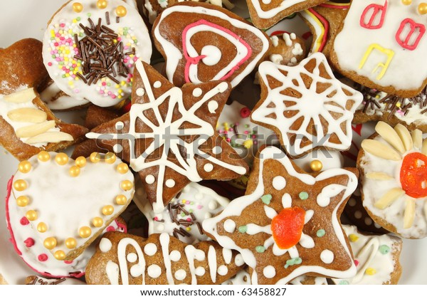 Christmas Gingerbread Cookies Polish Xmas Traditional Stock Photo