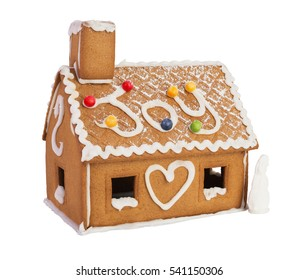 Christmas gingerbread house isolated on a white background