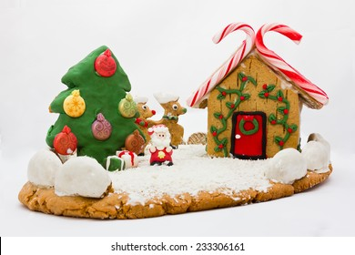 Christmas gingerbread landscape