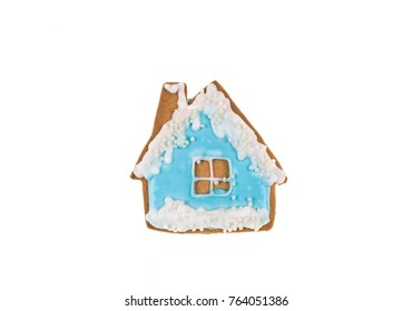 christmas gingerbread on white isolated background