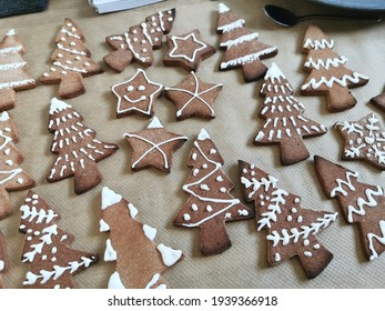 Christmas gingerbread royal icing biscuits