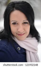Christmas Girl.Winter woman