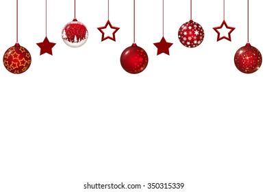 Christmas globes and stars