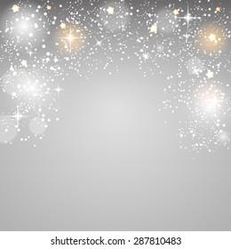 Christmas Glossy Star Background  Illustration