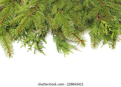 Christmas green framework