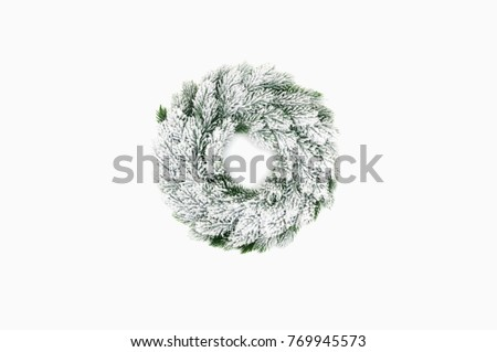 Christmas Green Wreath Decorations Isolated On Stock Photo Edit Now