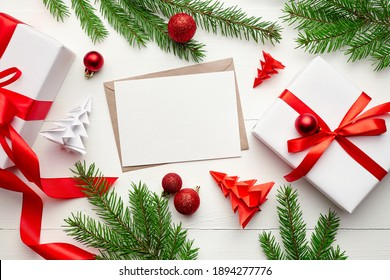 Christmas greeting card with Calligraphic Season Wishes