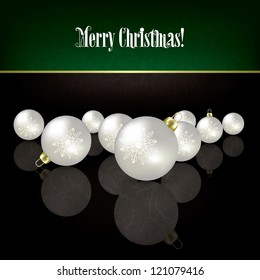 Christmas grunge black background with white decorations