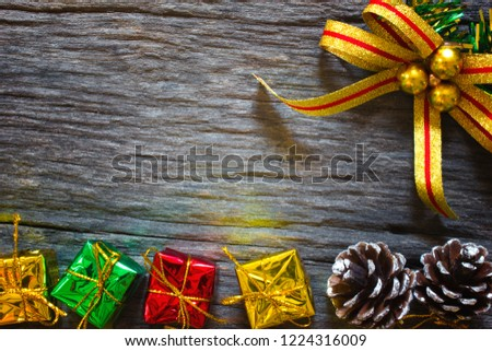 christmas and happy new year for background christmas presents in gold boxes and gift box