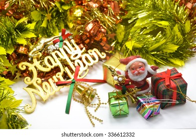 christmas and happy new year ornament
