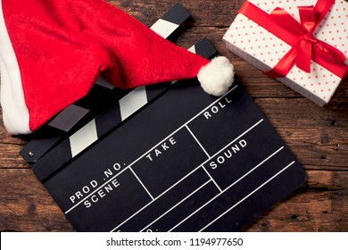 Christmas hat with film board cutout