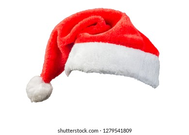 Christmas hat  on white background ,  clipping path .