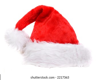 christmas hat over white - nice and bulky so you can place it on a persons head -