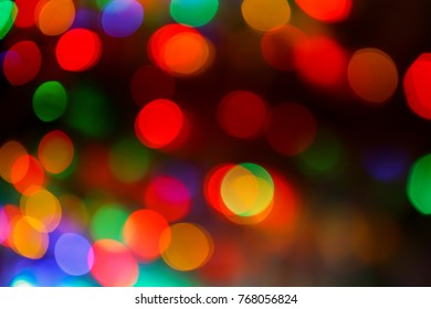Christmas, holiday background. Abstract color bokeh