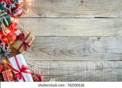 Christmas holiday background with copy-space