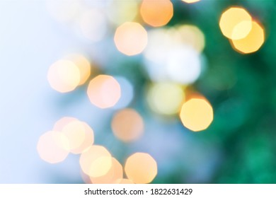 Christmas holiday bokeh. Defocused bokeh lights background
