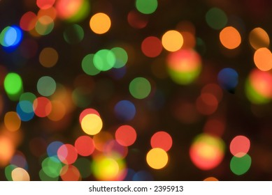 Christmas holiday lights soft focus background 07